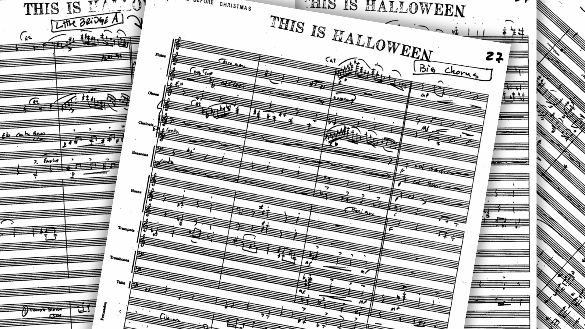 Partitura de This Is Halloween con todos los instrumentos.